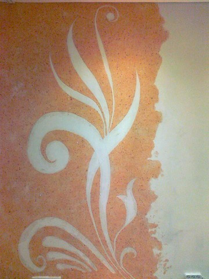 Рисунки жидкими обоями декорируем стены