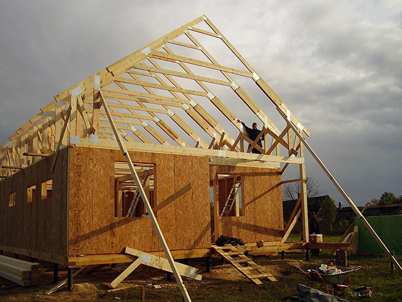 Каркасный дом своими руками : пошаговая инструкция сборки с фото 56